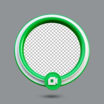 Креативная концепция значок прямой трансляции с зеленой цветовой схемой