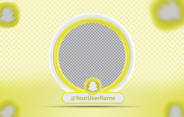 Профиль макета креативной концепции со значком snapchat