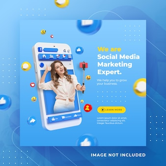 Creative concept social media facebook post for digital marketing promotion template