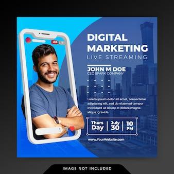 크리에이티브 컨셉 소셜 미디어 인스 타 그램 라이브 디지털 마케팅 프로모션 템플릿