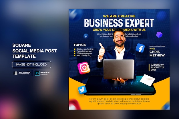 Creative concept social media instagram post for digital marketing promotion template
