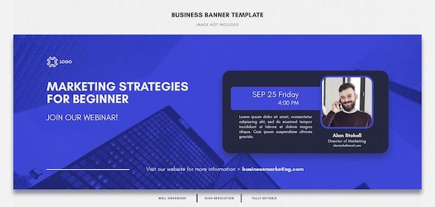 Creative corporate business facebook banner template