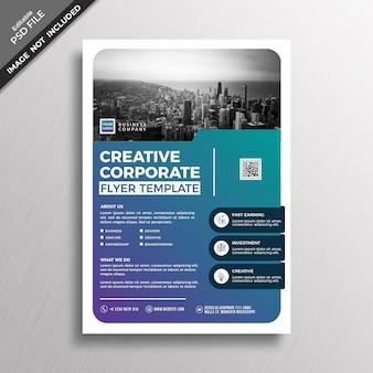 크리 에이 티브 기업 현대적인 스타일 디자인 전단지 서식 파일