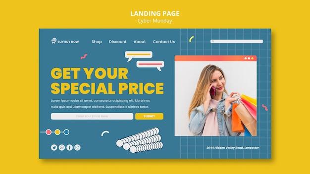 Creative cyber monday web template