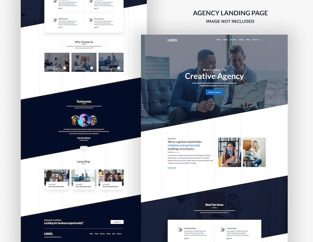 Creative design agency website page design