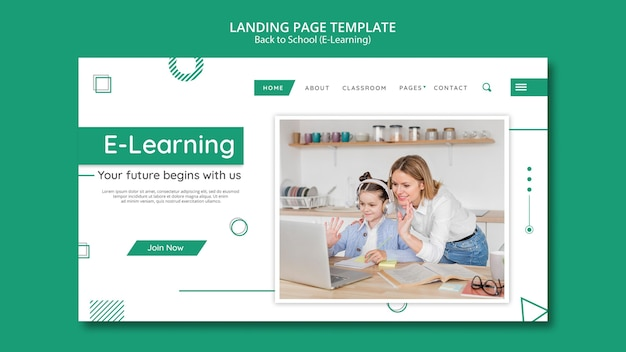 Creative e-learning banner template