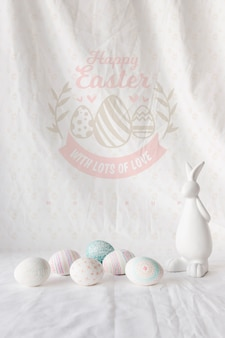 Creative easter mockup composition