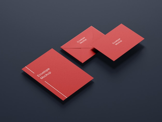 Creative envelope and letterhead mockup