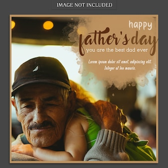Creative fathers day cover mockup