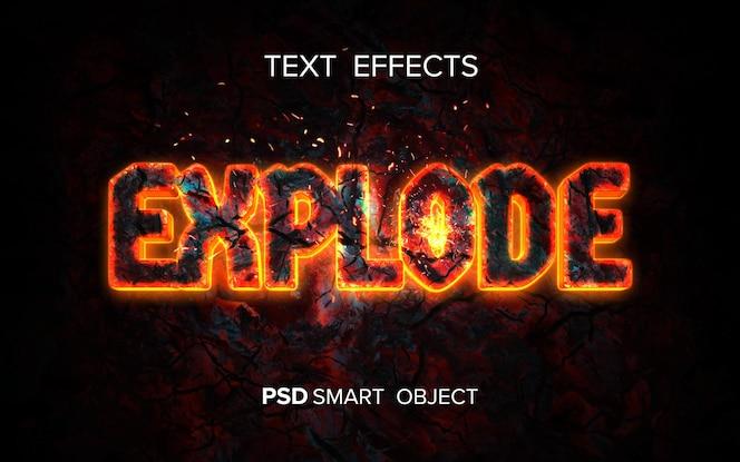 Творческий текстовый эффект огня