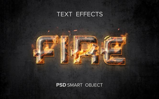 クリエイティブな火のテキスト効果