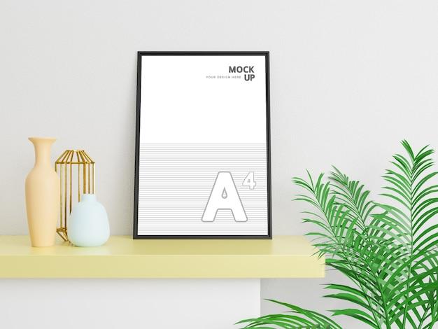 デザインを紹介するクリエイティブチラシとポスターのモックアップ