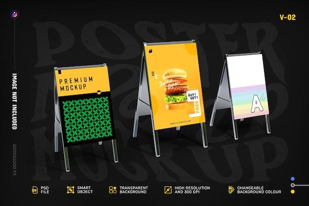 クリエイティブなチラシとポスターのモックアップを紹介します