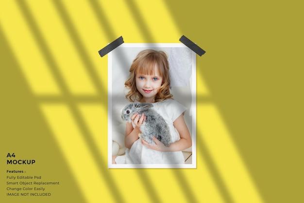 3d 렌더링의 크리에이티브 전단지 모형 디자인