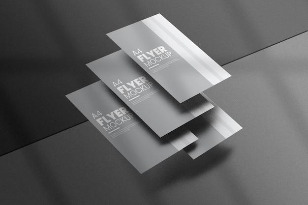 크리에이티브 플라이어 목업 디자인