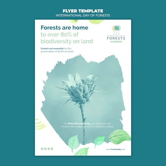 Creative forests day poster template