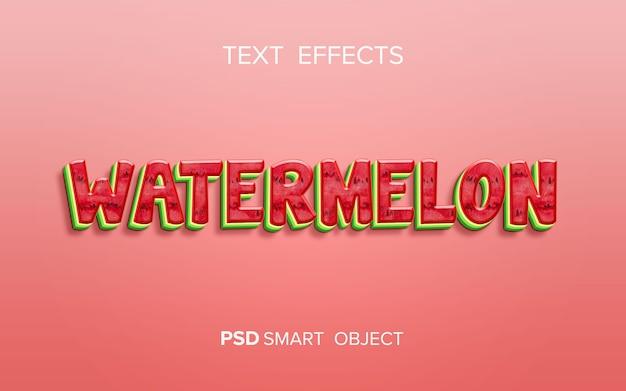 Creative fruit text effect