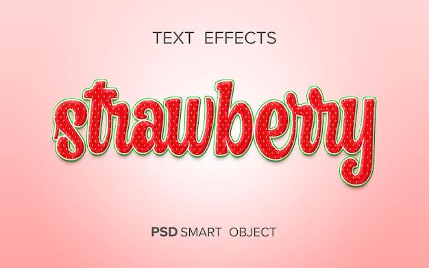 Креативный фруктовый текстовый эффект