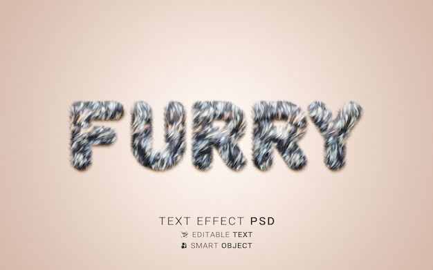 Креативный пушистый текстовый эффект