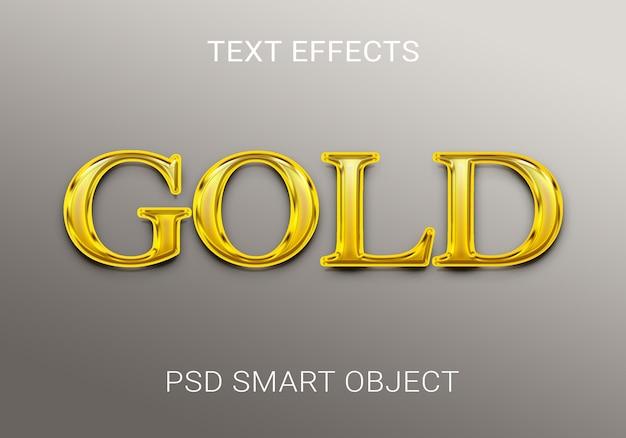 Креативный золотой текстовый эффект