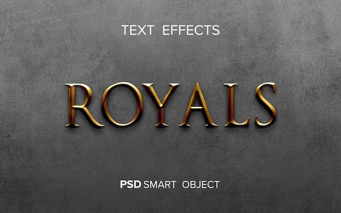Creative golden text effect