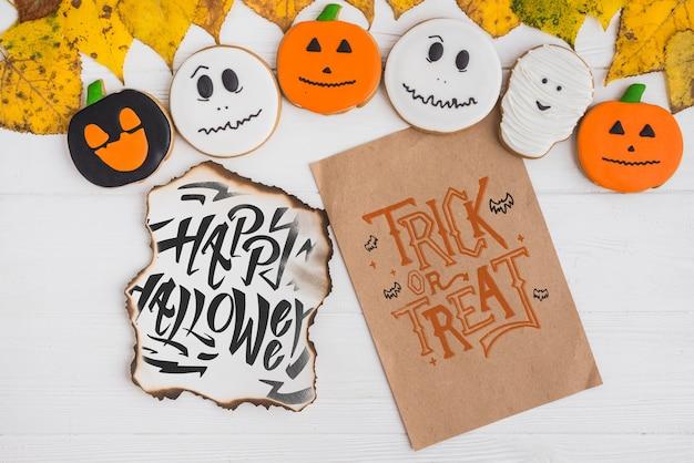 Creative halloween cover mockup