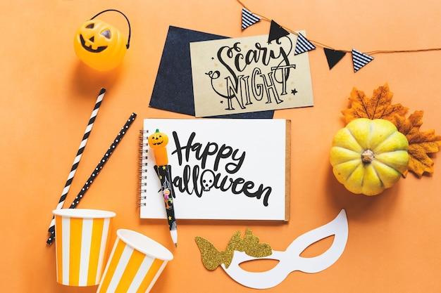 Creative halloween mockup
