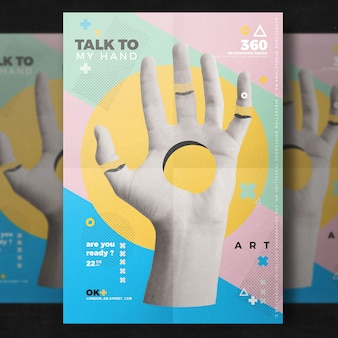 Creative hand flyer template