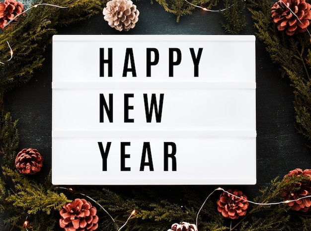 Creative happy new year 2019 mockup