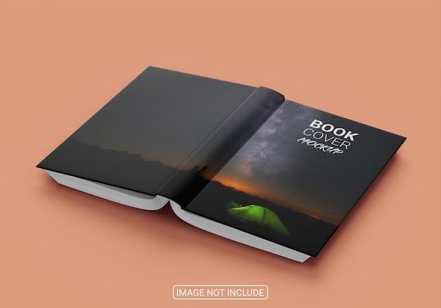 クリエイティブなハードカバーの本のモックアップ