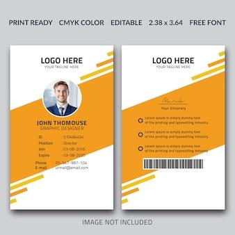 Creative id card template