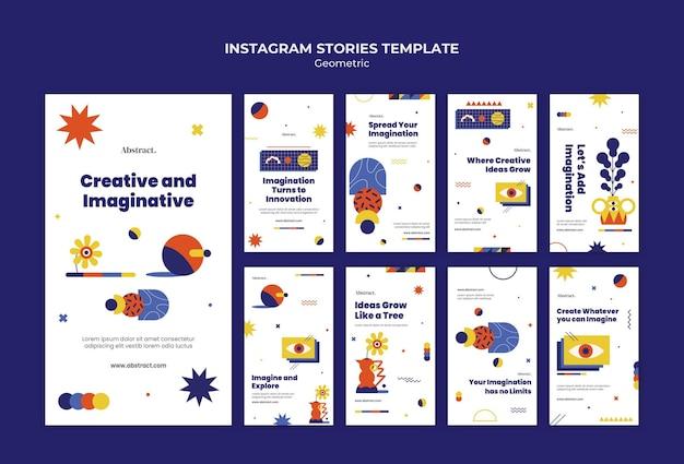 Creative and imaginative instagram stories