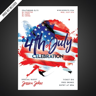 Creative independence day party flyer template