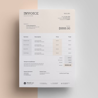 Creative invoice with topbar template