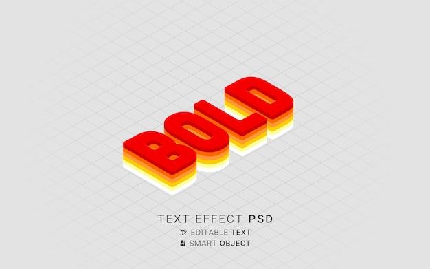 Effetto di testo isometrico creativo