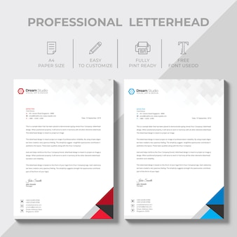 Creative letterhead design template vector