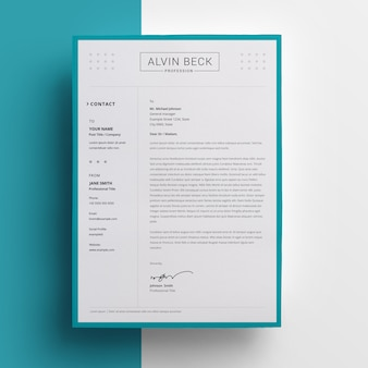 Creative letterhead design with paste accent