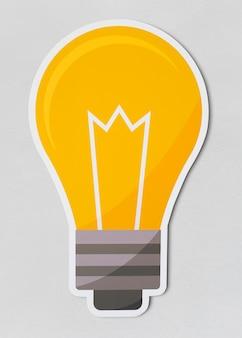 クリエイティブな電球のアイコン