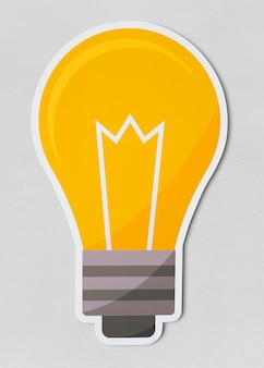 Значок creative light bulb