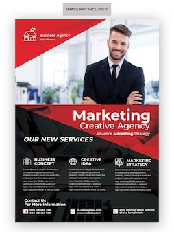 Creative marketing agency business flyer template