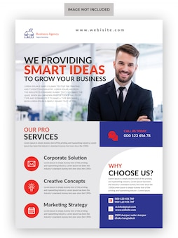 Creative marketing agency business flyer