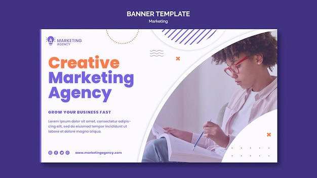Creative marketing banner template