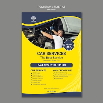 Creative mechanic flyer template
