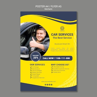 Creative mechanic poster template