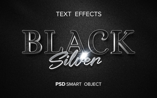 Creative metallic text effect