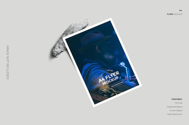 Creative and minimal flyer brochure mockup