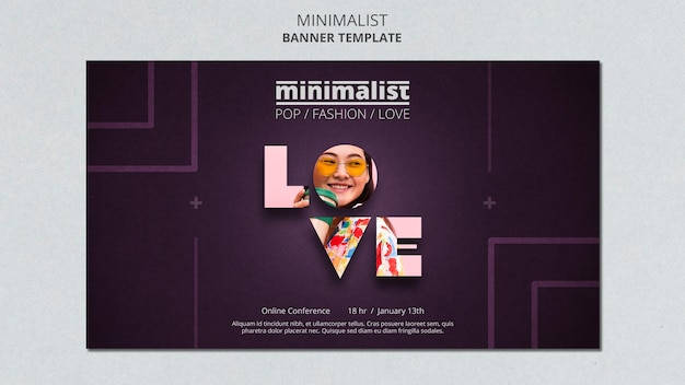 Creative minimalist banner template