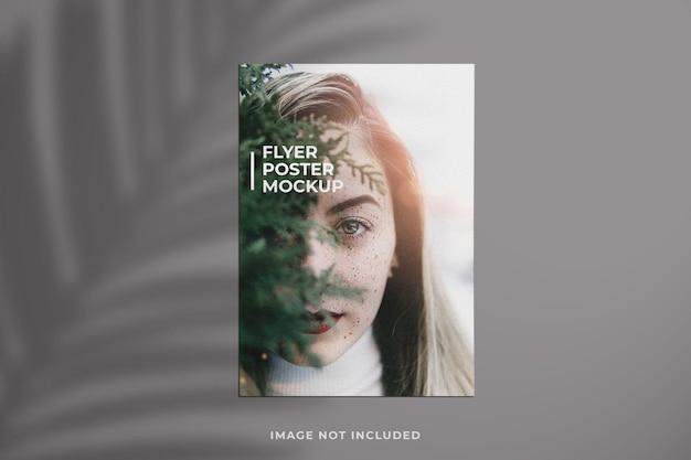 Creative and minimalist flyer or brochure mockup