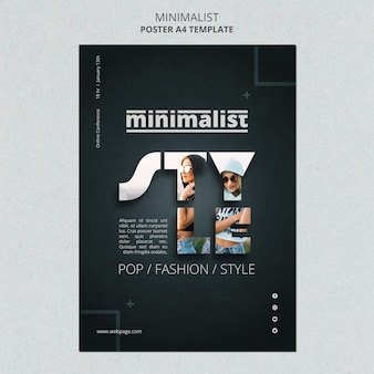 Creative minimalist flyer template