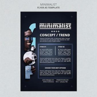 Creative minimalist poster template